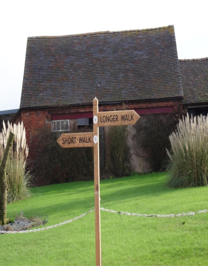 Walking Route Signpost in Loggerheads Staffordshire