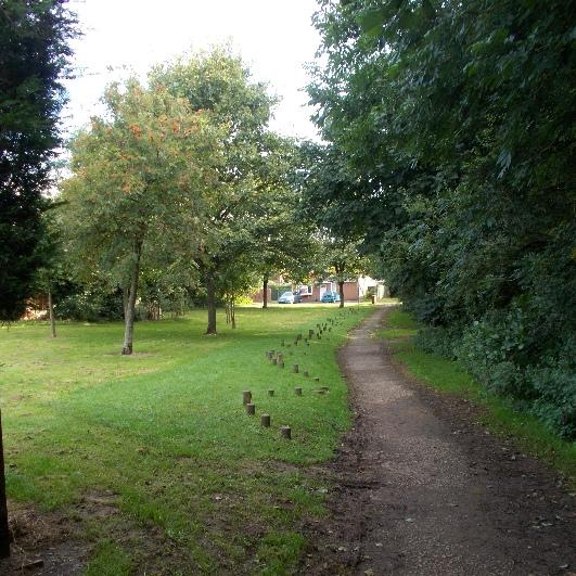 Tadedale Play Area in Loggerheads Staffordshire