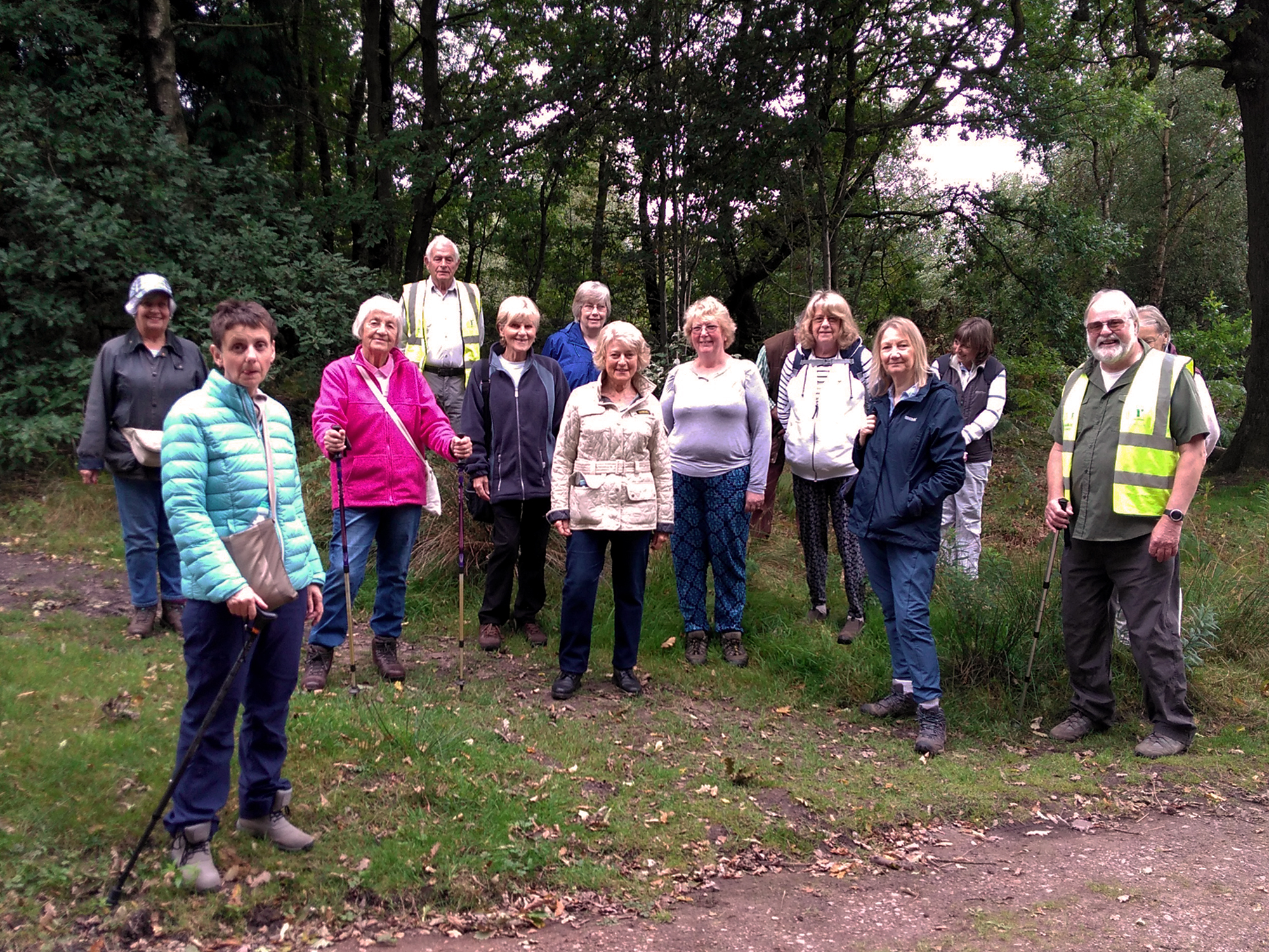 Walking for Health Group in Loggerheads Staffordshire