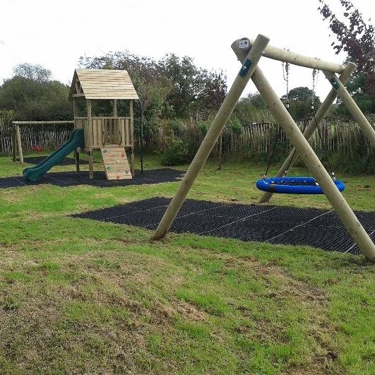 Bell Orchard Play Area in Loggerheads Staffordshire