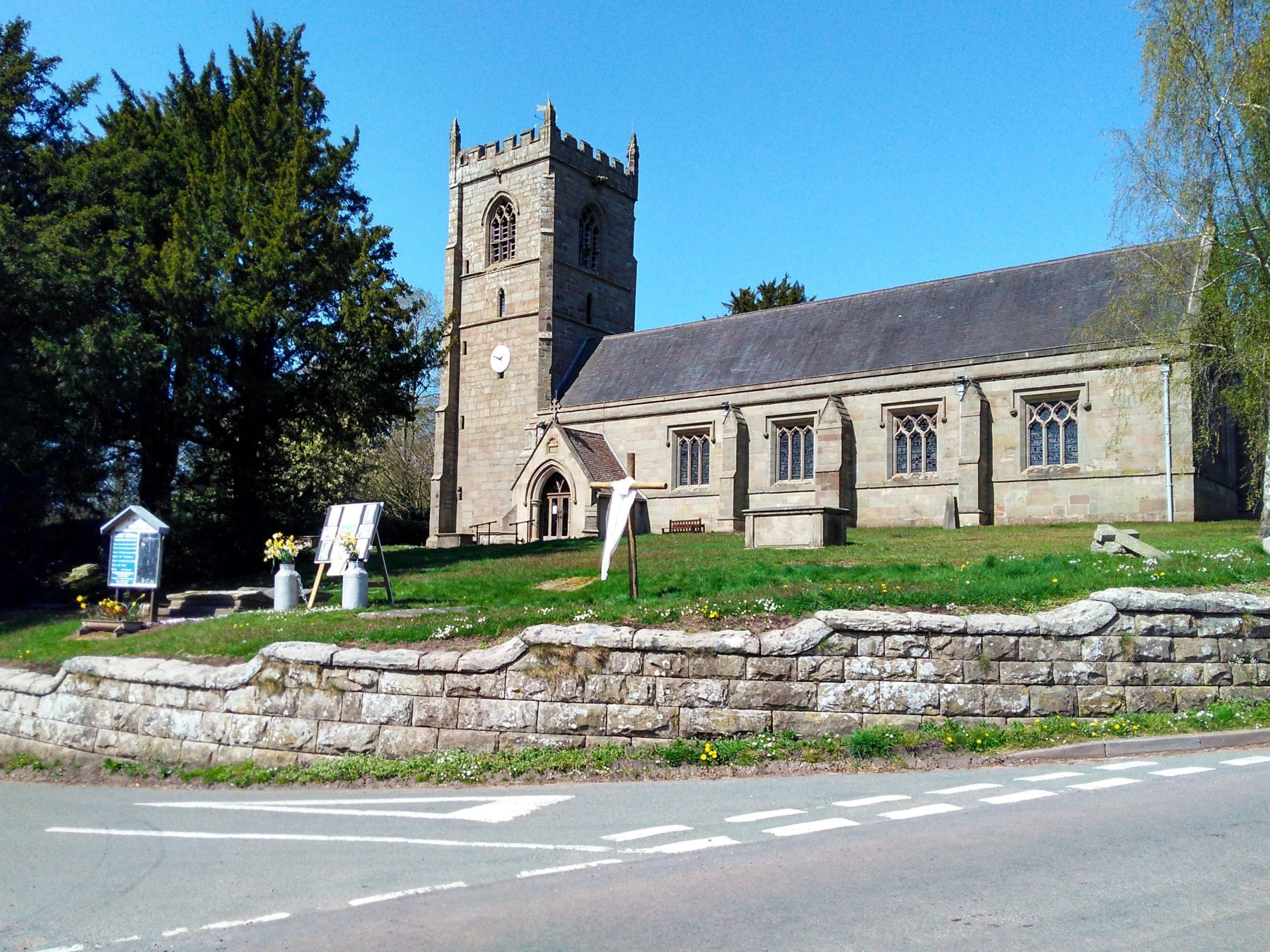 Mucklestone Church in Loggerheads Parish Staffordshire