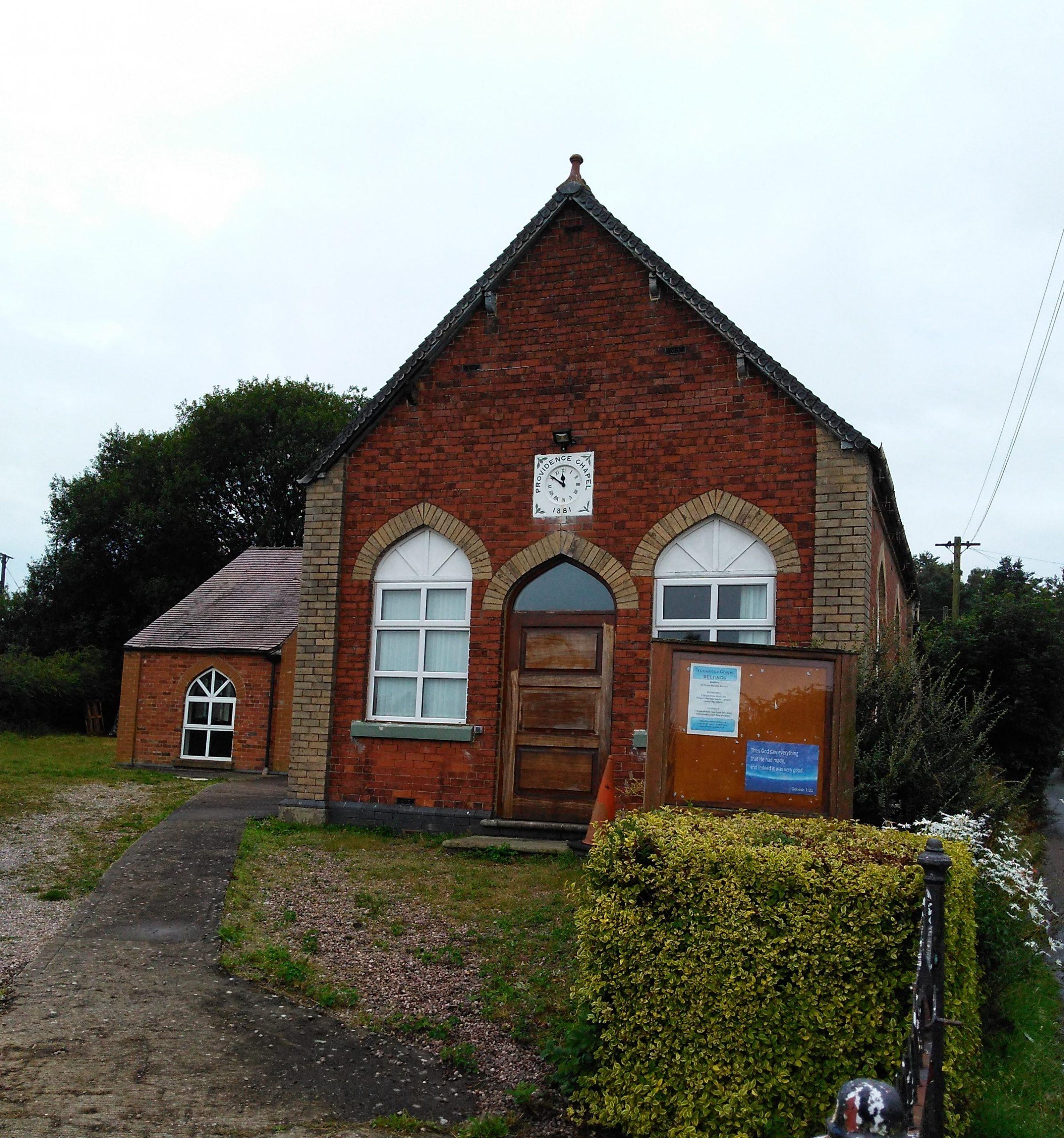 Providence Chapel in Hookgate Loggerheads Parish Staffordshire