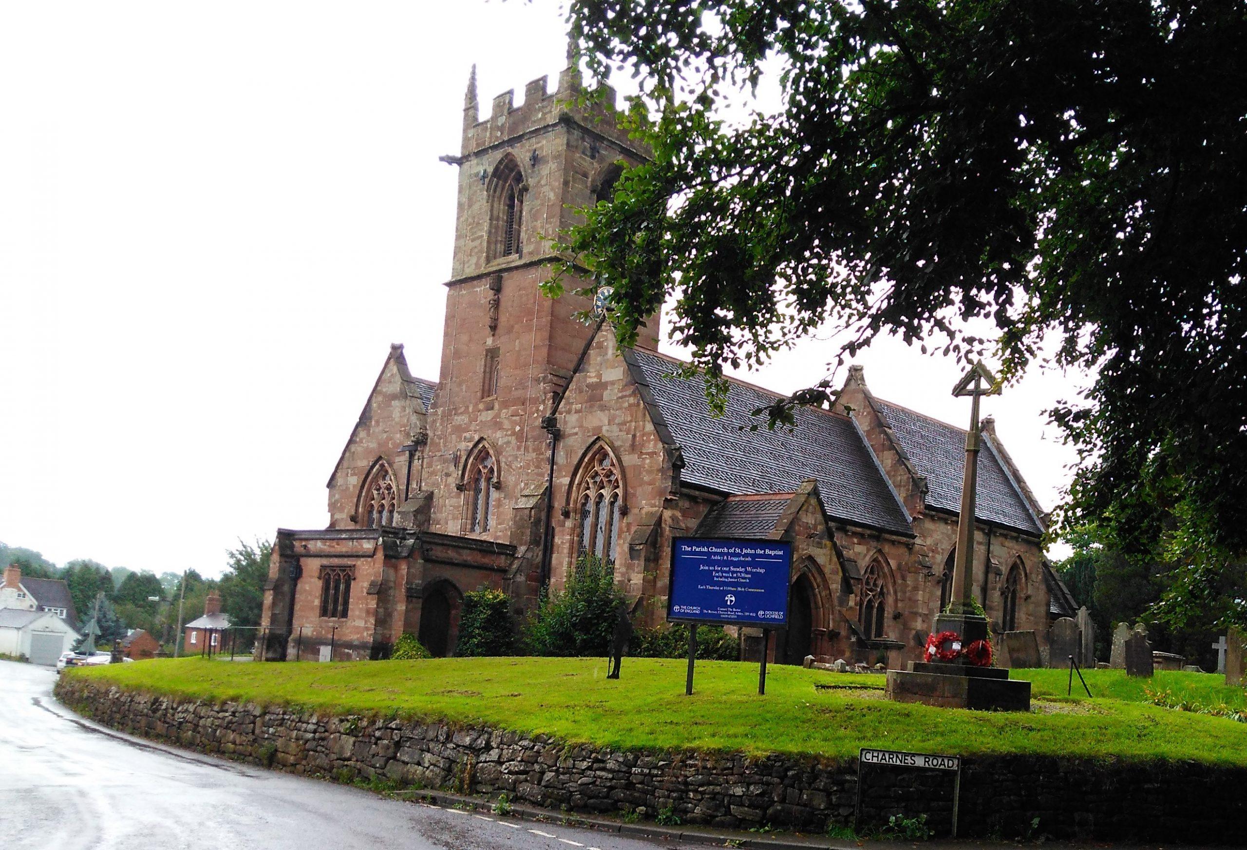 St Johns Church in Ashley in Loggerheads Parish Staffordshire